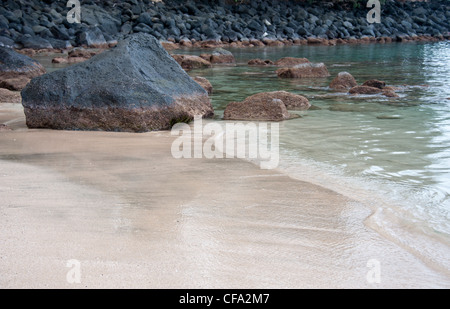 Empty public beach on the southern end of the island of Kauai, Hawaii. - Stock Photo
