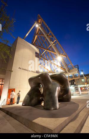 Henry Moore Sculpture Art Gallery Ontario Toronto - Stock Photo