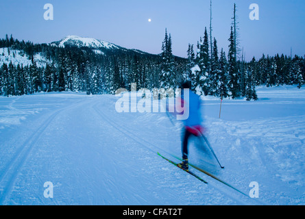 full moon twilight allow enough light continue - Stock Photo