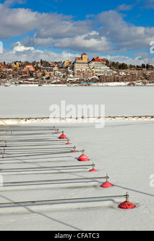 View of Lidingö seen from Ropsten, Stockholm (Sweden) - Stock Photo
