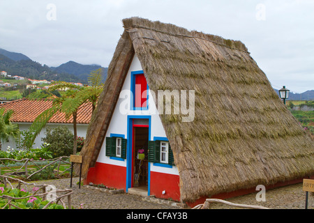 Old Fashioned Houses santana traditional madeira houses with thatched roofs. old