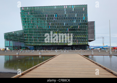 HARPA, Concert Hall and Conference Center, Reykjavik, Iceland - Stock Photo