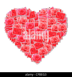 Heart shape,made from rose photo. - Stock Photo