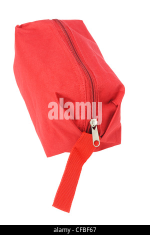 Red Hand Bag on White Background - Stock Photo