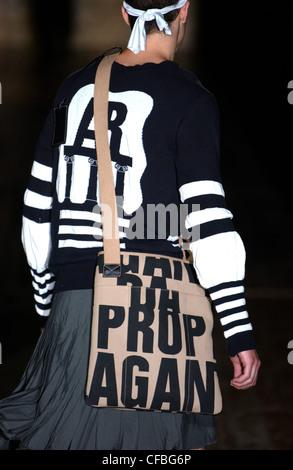 Vivienne Westwood Milan Menswear S S Male wearing white t ...