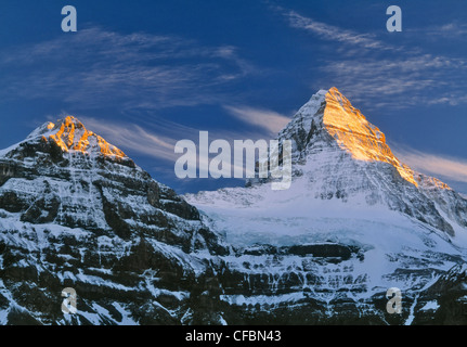 Mount Assiniboine, Mount Assiniboine Provincial Park, British Columbia, Canada - Stock Photo