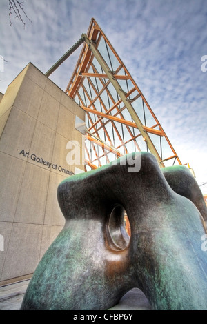 Henry Moore sculpture, Art Gallery of Ontario, Toronto, Ontario, Canada - Stock Photo