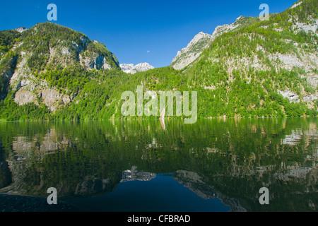Europe, Germany, Bavaria, Upper Bavaria, Berchtesgaden country, Berchtesgaden, Alps, mountains, cliff, panorama, - Stock Photo
