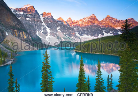 Moraine Lake, Banff National Park - Stock Photo