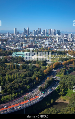 Japan, Asia, Tokyo, city, Shinjuku, District, Shuto, Expressway, State, Guest House, architecture, big, buildings, - Stock Photo