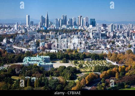 Japan, Asia, Tokyo, city, Shinjuku, District, State, Guest House, architecture, big, buildings, city, expressway, - Stock Photo