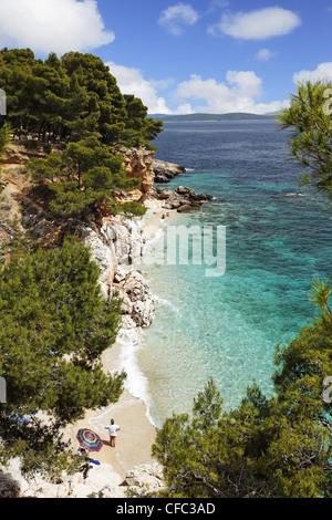 Bay near Jagodna, Hvar, Split-Dalmatia, Croatia - Stock Photo