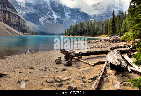 Morraine Lake, Valley of Ten Peaks, Banff National Park, Alberta, Canada - Stock Photo