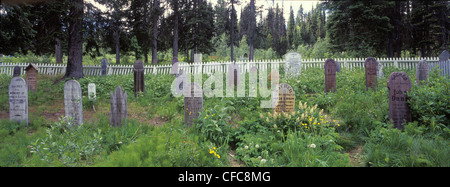 Cemetery in Barkerville, the historical town of the Cariboo gold rush, Cariboo, British Columbia, Canada - Stock Photo