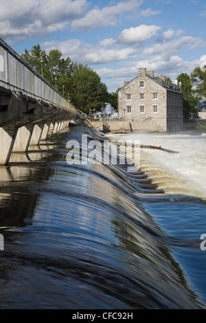 Footbridge Water Flow Control Gates Des - Stock Photo