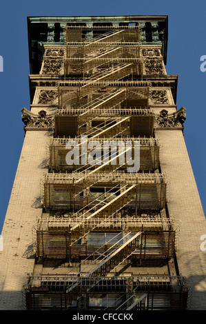 Fire Escape, Tribeca, Manhattan, New York City, New York - Stock Photo