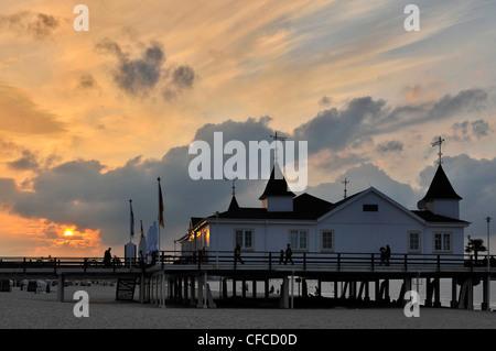 Pier Ahlbeck, Ahlbeck, Usedom, Mecklenburg-Western Pomerania, Germany - Stock Photo