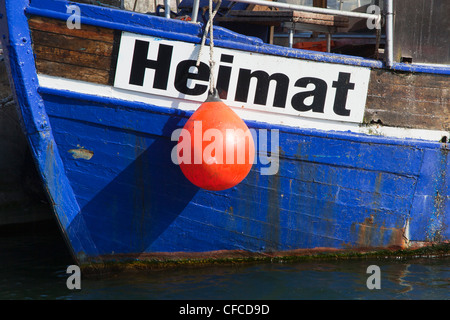 "Cutter ""Heimat"" in the harbour, Sassnitz, Ruegen island, Baltic Sea, Mecklenburg-West Pomerania, Germany"