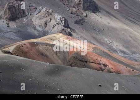 close-up of one of the craters at Haleakala National Park, Maui, Hawaii - Stock Photo