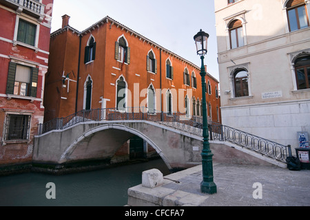 Ponte de San Paternian bridge over Rio San Luca canal - Venice, Venezia, Italy, Europe - Stock Photo