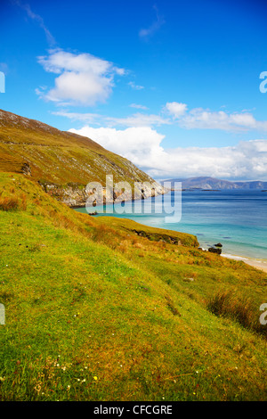 Coast at Keem Bay on Achill Island, in summer, Ireland. - Stock Photo