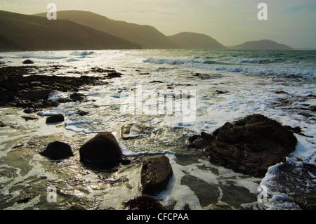 Niarbyl Bay Isle of Man - Stock Photo