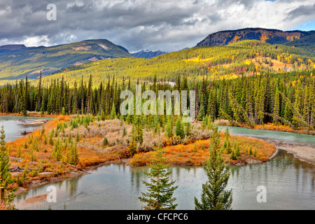 Bow River, Banff National Park, Alberta, Canada - Stock Photo
