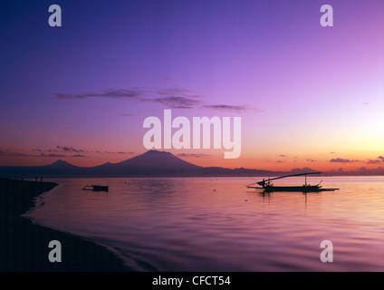 Sunrise at Sanur Beach, Bali, Indonesia, Southeast Asia, Asia - Stock Photo