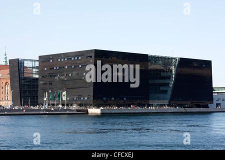The Black Diamond in Copenhagen - Stock Photo