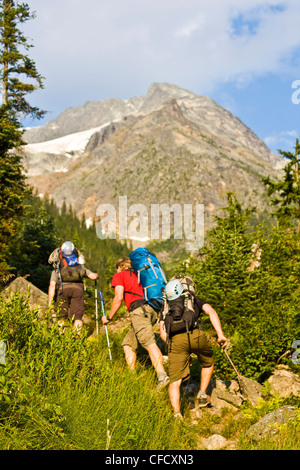 Climbers heading up valley climb classic north - Stock Photo