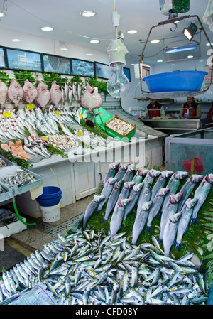 Fish Market at Kadikoy, Asian side of Bosphorus, Istanbul, Turkey - Stock Photo