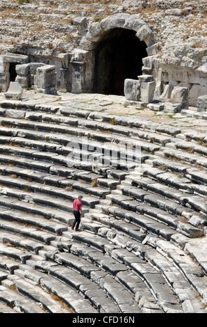 Amphitheatre at Miletus, an ancient Greek city on the western coast of Anatolia, Turkey - Stock Photo