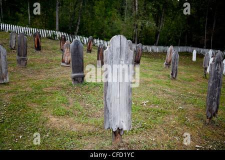 Yukon Order of Pioneers 8th Avenue Cemetery, Dawson City, Yukon, Canada - Stock Photo