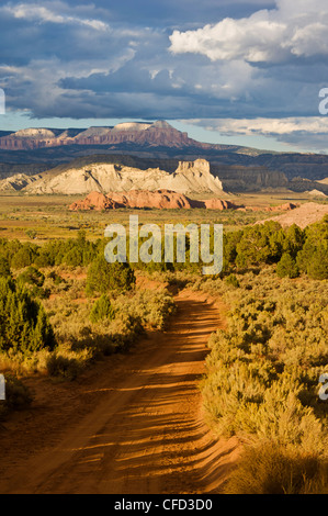 Skutumpah,road from Willis creek towards Cannonville, Grand Staircase-Escalante National Monument, Kane County, - Stock Photo