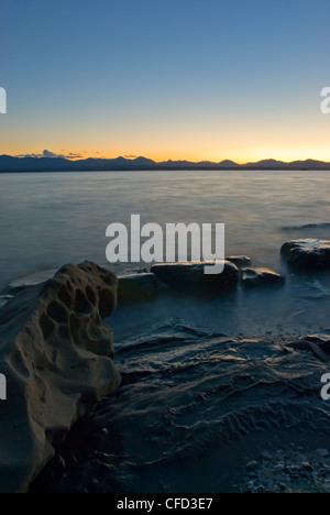 Sunset Vancouver Island seen shores Blackberry - Stock Photo