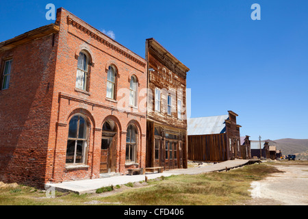 Brick Post Office and Dechambeau hotel, Bodie, Bodie State Historic Park, Bridgeport, California, USA - Stock Photo