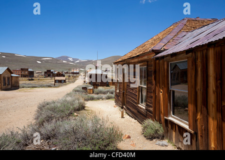 Dr. Street's house, California gold mining ghost town of Bodie, Bodie State Historic Park, Bridgeport, California, - Stock Photo