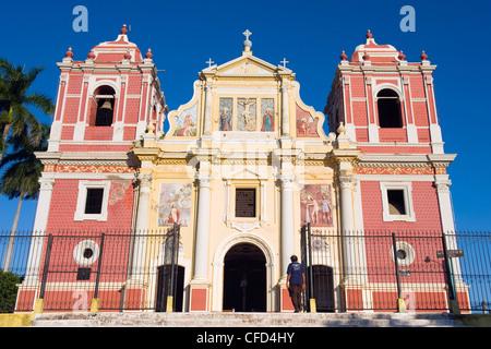 Igelsia el Calvario, Leon, Nicaragua, Central America - Stock Photo