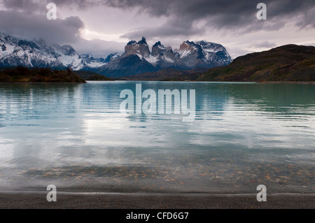 Lago Pehoe, Torres del Paine National Park, Patagonia, Chile, South America - Stock Photo