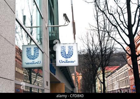 Unilever, Prague, Czech republic, February 29, 2012. (CTK Photo/Krystof Kriz) - Stock Photo