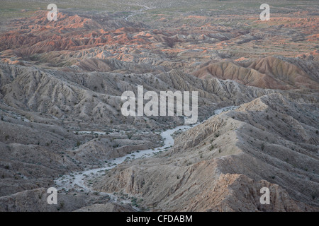 Badlands from Font's Point, Anza-Borrego Desert State Park, California, United States of America, - Stock Photo