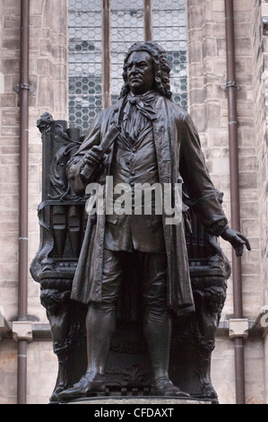 Statue of Bach, Leipzig, Saxony, Germany, Europe - Stock Photo