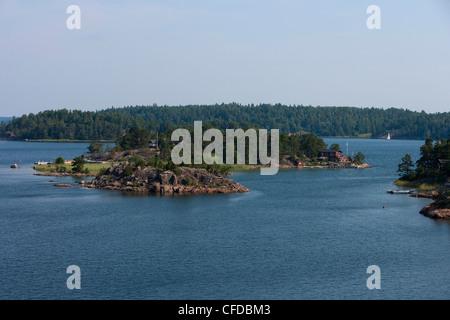 Islands in the Stockholm archipelago, near Stockholm, Stockholm, Sweden - Stock Photo