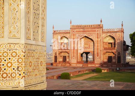 Itimad-ud-Daulah (tomb of Mizra Ghiyas Beg), Agra, Uttar Pradesh, India, Asia - Stock Photo