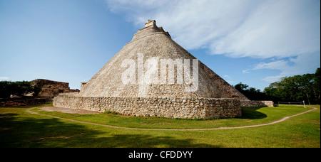 The Pyramid of the Magician, Uxmal, UNESCO World Heritage Site, Yucatan, Mexico, - Stock Photo