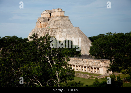The Pyramid of the Magician, Uxmal, UNESCO World Heritage Site, Yucatan, Mexico, - Stock Photo