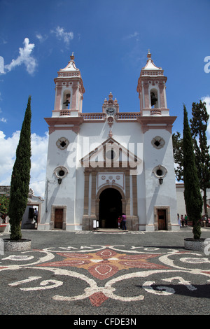 Templo de Santa Veracruz church, Taxco, Guerrero State, Mexico, - Stock Photo