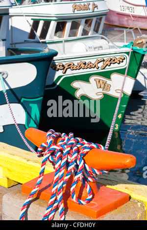 Fishing boat on southside of St. John's Harbour, Newfoundland, Canada - Stock Photo