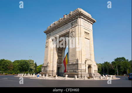 Arcul de Triumf (Triumphal Arch), Bucharest, Romania, Europe - Stock Photo