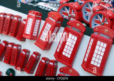 Souvenir telephone kiosks, Portobello Road Market, Notting Hill, London, England, United Kingdom, Europe - Stock Photo
